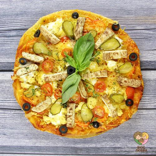 Пицца c вег-курицей (Vegan\Vegetarian)
