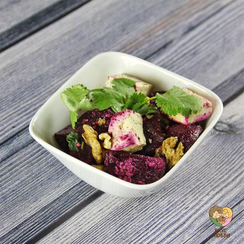 Салат со свеклой и тофу (Vegan)