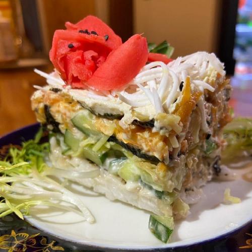 Салат суши-торт (Vegan)